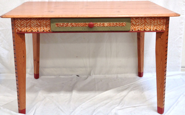 Kitchen Table With Drawer By David Marsh In A Petite Oja Pattern