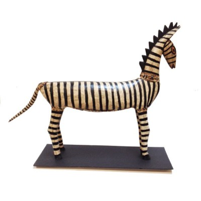 Carved zebra from the Bozo puppet performances
