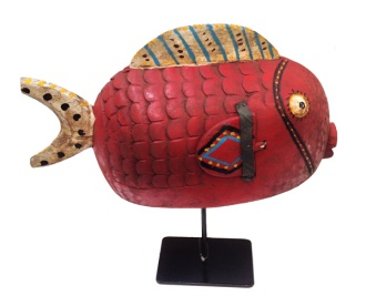 Red Puffer fish danced to represent abundance from the Niger River